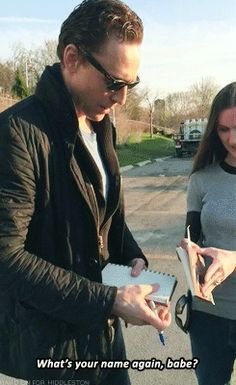 Tom with fans in Hamilton gif set (click for more) If I ever meet him and he calls me Babe, I would literally fall over. Not even kidding.