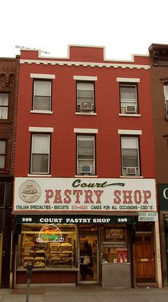 Court Pastry Shop; family-owned since 1948; bakery specializing in homemade Italian-style pastries and desserts; 298 Court Street, Brooklyn, NY