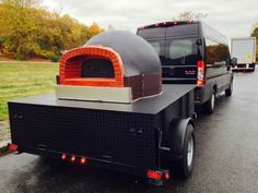 Kaufman single axle utility trailer turned into a mobile pizza oven that travels around to festivals and fairs.   Thanks for choosing Kaufman Trailers! www.kaufmantrailers.com Toy Hauler Trailers, Toy Hauler Camper, Flatbed Trailer, Car Trailer, Utility Trailer, Barbecue Smoker, Grilling, Pressure Washing Business, Dually Wheels