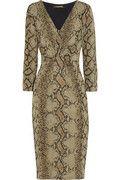 Roberto Cavalli's striking snake-print stretch-jersey dress