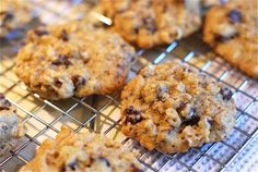 Delicious and easy chocolate chip coconut oatmeal cookies that are perfect for making everyday. Oatmeal Coconut Cookies, Oatmeal Chocolate Chip Cookies, Coconut Chocolate, Stove Top Cookie Recipe, Delicious Desserts, Yummy Food, Healthier Desserts, Healthy Sweets, Healthy Snacks