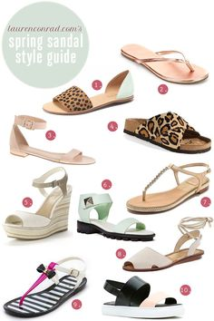 Style Guide: Stylish Spring Sandals