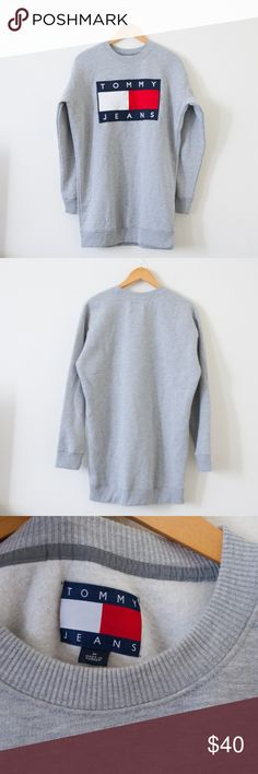 """[Tommy Hilfiger] Men's Gray Sweatshirt Item is in very good condition. Very minor flaws will be pictured if any. See photos.   Approximate flat measurements:  Length: 30.5""""  Pit to Pit: 22.5""""  I do my best to check for holes and stains and describe items accurately. Any flaws are noted and photographed. Please see measurements for sizing.  F49 Tommy Hilfiger Shirts Sweatshirts & Hoodies"""