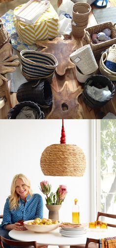 Lámpara con una cesta