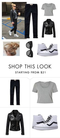 """Get the Look: Ashley Benson"" by msulover ❤ liked on Polyvore featuring Hollister Co., Miss Selfridge, Chicnova Fashion, Vans and Le Specs"