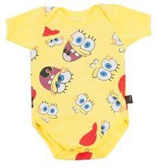 Body Baby do Bob Esponja, se você pensava que seu bebê não poderia ficar mais fofinho, agora ele pode sim!