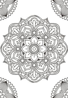 Mandala fleur simple unique doodle art doodle it. Mandalas Painting, Mandalas Drawing, Mandala Coloring Pages, Adult Coloring Pages, Coloring Books, Adult Colouring In, Easy Mandala Drawing, Leaf Drawing, Coloring Tips