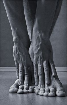 Dancer's Feet Hands / muscles / body / black and white / detail / art photography / The human form /