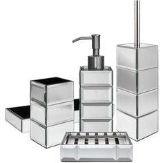 John Lewis Gatsby Bathroom Accessories ❤ liked on Polyvore featuring home, bed & bath, bath, bath accessories, art deco bathroom accessories and john lewis