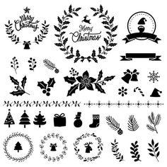 Satz des schneeflocken-weihnachtsdesignvektors | Kostenlose Vektor Christmas Stencils, Christmas Ornaments To Make, Christmas Wood, Christmas Bells, Christmas Design, Wood Ornaments, Merry Christmas, Illustration Noel, Illustrations