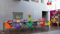 Salas de jantar em cores