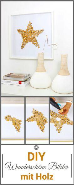 Ikea-Hack mit Ribba-Bilderrahmen und Holzscheiben. Daraus haben wir dieses wundeschöne Bild gezaubert. Wir zeigen dir im Video, wie wir das gemacht haben.