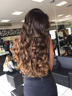 Medium, Beachy Waves with Ombre Highlights - 40 On-Trend Balayage Short Hair Looks - The Trending Hairstyle Brown Hair Balayage, Brown Blonde Hair, Hair Color Balayage, Brunette Hair, Hair Highlights, Gorgeous Hair, Hair Looks, New Hair, Curly Hair Styles