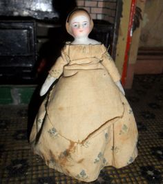 Nice Bisque Doll Alice Band Detail To Hair Original Clothes c1890 from theluckyblackcat on Ruby Lane