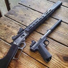 Covert Lever Action Rifle, and Ruger Pistol Weapons Guns, Guns And Ammo, Lever Action Rifles, Hunting Guns, Custom Guns, Military Guns, Cool Guns, Firearms, Shotguns