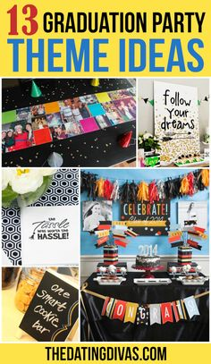 13 Graduation Party Theme Ideas from The Dating Divas 5th Grade Graduation, Graduation Decorations, Graduation Party Decor, Graduation Ideas, Graduation Gifts, Outdoor Graduation Parties, Graduation Party Planning, College Graduation Parties, Grad Parties