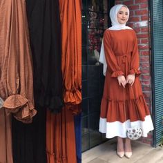 new season BA-YIL-DIKK Hanım with her ladybug posture and amazing fabric … – Best Of Likes Share Hijab Fashion Summer, Modest Fashion Hijab, Modern Hijab Fashion, Abaya Fashion, Muslim Fashion, Fashion Dresses, Hijab Style Dress, Casual Hijab Outfit, Hijab Chic