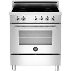"Check out the Bertazzoni PRO304INMXE Professional 30"" Freestanding Electric Range with 4 Induction Burners priced at $3,299.00 at Homeclick.com."