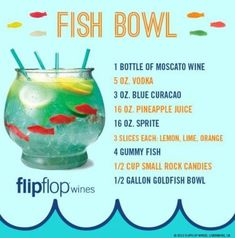 Fish bowl : mix drink :
