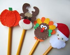 Christmas pencil topper craft
