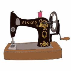 La maquina de coser de mi madre.
