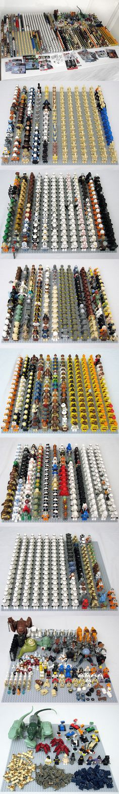 HUGE Star Wars minifigure (1220) collection! #StarWars #LEGO #minifigure This is also a good idea for showing off a collection of mini figures!