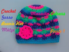 Crochet Tutorial Gorro Niños Turquesa (Parte 1) - Subtitles English & De...