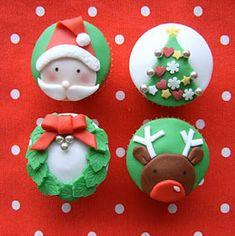 cupcakes navidad #cupcakes #fondant #navidad #christmas                                                                                                                                                                                 Más