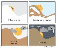 The Awkward Yeti comics  on spring