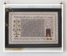 Multiplication Vexation Sampler cross stitch pattern back to school by Plum Street Samplers at www.thecottageneedle.com