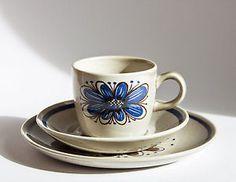 Vintage-Figgjo-Stavangerflint-Florry-Cup-Saucer-Plate-Trios