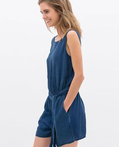 Image 3 of DUNGAREES WITH BELT from Zara