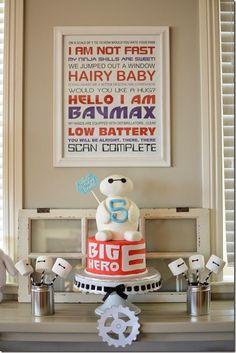 Big Hero 6 party--cake