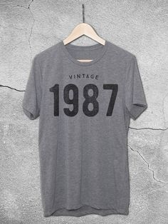 30th birthday gifts for him and her - 30th Birthday Tees | Vintage 1987 Vintage T-Shirt – Hello Floyd - Gifts for men and women - gift ideas