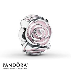 A trail of roses accented with pink enamel forms this lovely sterling silver charm from the PANDORA Mother's Day 2014 collection. Style # 791291EN40. $60