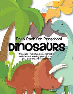 114 pages of hands-on literacy, science and numbers centers and activities for preschool and pre-K. 114 pages of hands-on literacy, science and numbers centers and activities for preschool and pre-K. Dinosaurs Preschool, Dinosaur Activities, Preschool Songs, Interactive Activities, Preschool Themes, Dinosaur Crafts, Dinosaur Dinosaur, Pool Activities, Preschool Prep