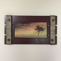 Reclaimed Shutter Wall Pallet Sign - GOD GRANT ME => Details can be found  : Handmade Gifts