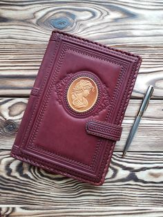 Travel Journal Top-Grain Leather Blank Blank Book Brown Personal Diary Notebook #MakeyStudio