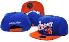 DENVER BRONCOS MITCHELL NESS SNAPBACK HATS - NAVY 8813