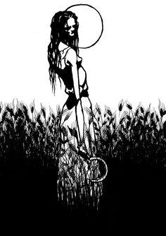 """""""Południca. Slavic demon"""" by Maszkai"""