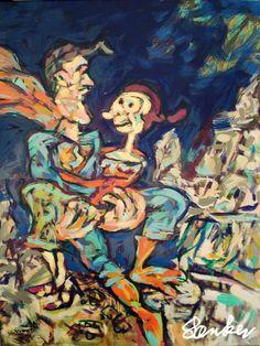 Interpretation of classic cartoons the impressionistic way. Oil paintings series by Jørn Særker