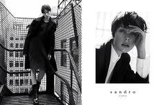 The Sandro Fall/Winter 2013-2014 campaign  Models: Edie Campbell, Janis Ancens and Tony Bryan  Photographer: Karim Sadli