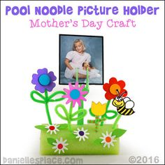 Mother's Day Pool Noodle Picture Holder Craft for Kids