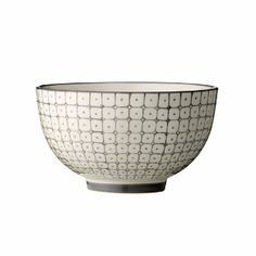 Bloomingville Grey Carla Bowl: This bowl by Bloomingville feature a great retro design of little squares in grey. Matching items available.
