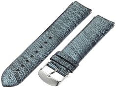 Philip Stein 2-OGM 20mm Leather Ostrich Grey Watch Strap -- More info could be found at the image url.