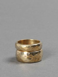 MUNOZ VRANDECIC GOLD BRASS SMOOTHED DOUBLE RING