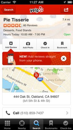 Oh snap, Yelp app: now post reviews straight from your mobile device!  Jump on this and ask your residents and prospects to leave a review of your community!