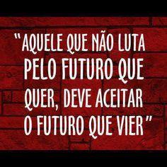 ''Aquele que não luta pelo futuro que quer,deve aceitar o futuro que vier.'' - Autor desconhecido
