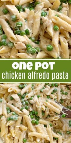 Could You Eat Pizza With Sort Two Diabetic Issues? One Pot Chicken Alfredo Pasta An Easy 30 Minute Dinner Recipe That Is Kid Approved Penne Pasta, Green Peas, Alfredo Sauce, And Parmesan Cheese. Pollo Alfredo, Salsa Alfredo, Alfredo Recipe, Chicken Alfredo, Penne Alfredo Pasta Recipe, Pasta Bake, Pasta Dinner Recipes, Chicken Pasta Recipes, Bon Appetit