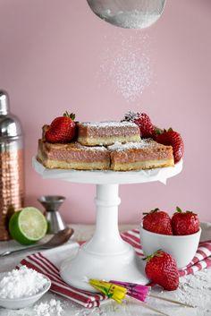 strawberry-rhubarb margarita bars